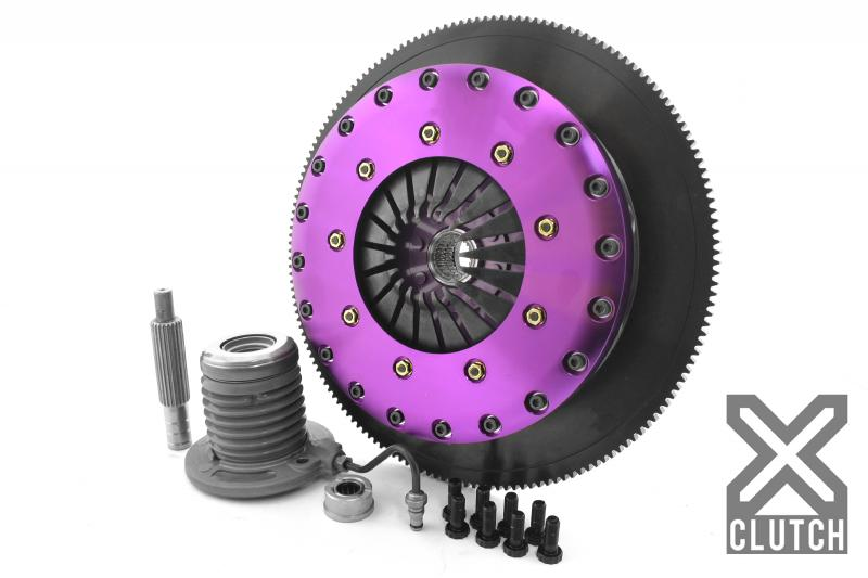 XClutch XKFD23681-2E Clutch Kit with Chromoly Flywheel + HRB 9-Inch and Twin Solid Ceramic Clutch Discs