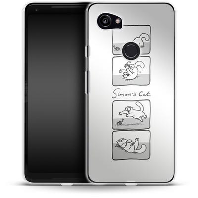 Google Pixel 2 XL Silikon Handyhuelle - Simon´s Cat Comic von Simons Cat