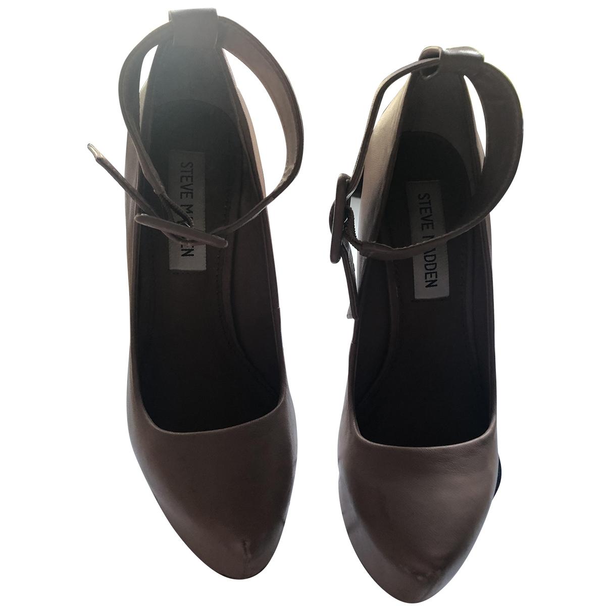 Steve Madden \N Brown Leather Heels for Women 35 EU