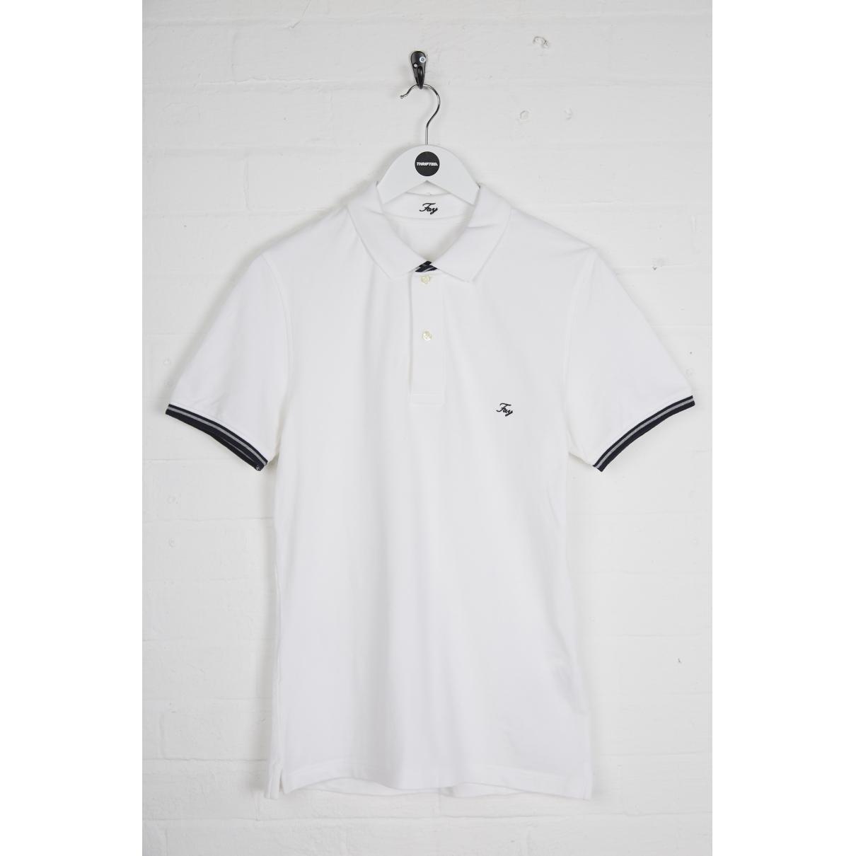 Fay - Polos   pour homme en coton - blanc