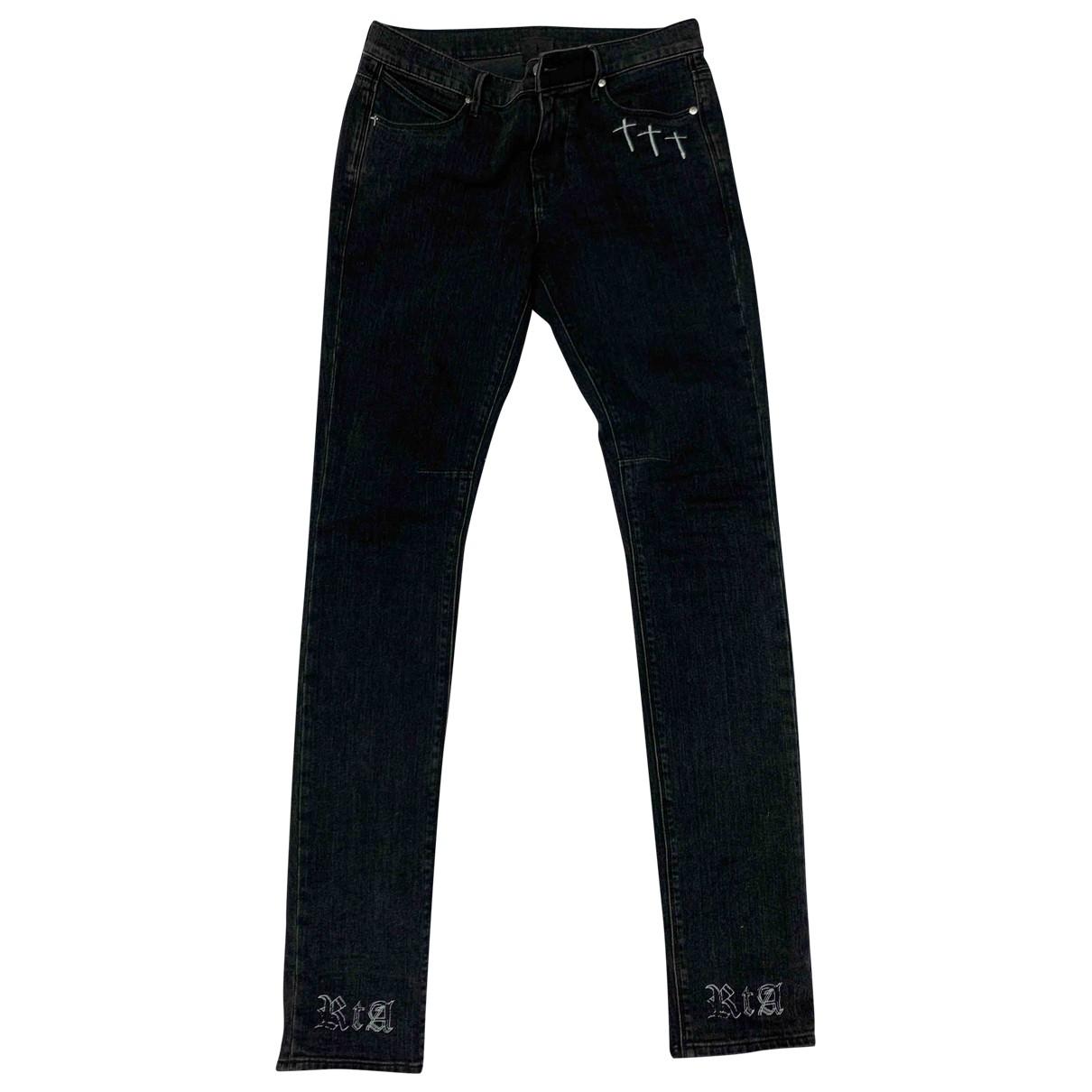 Rta \N Black Cotton - elasthane Jeans for Men 30 US