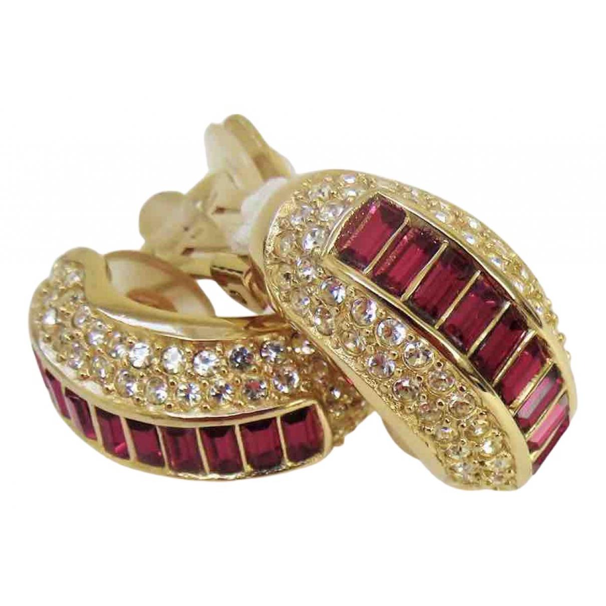 Christian Dior - Boucles doreilles   pour femme en metal - rose