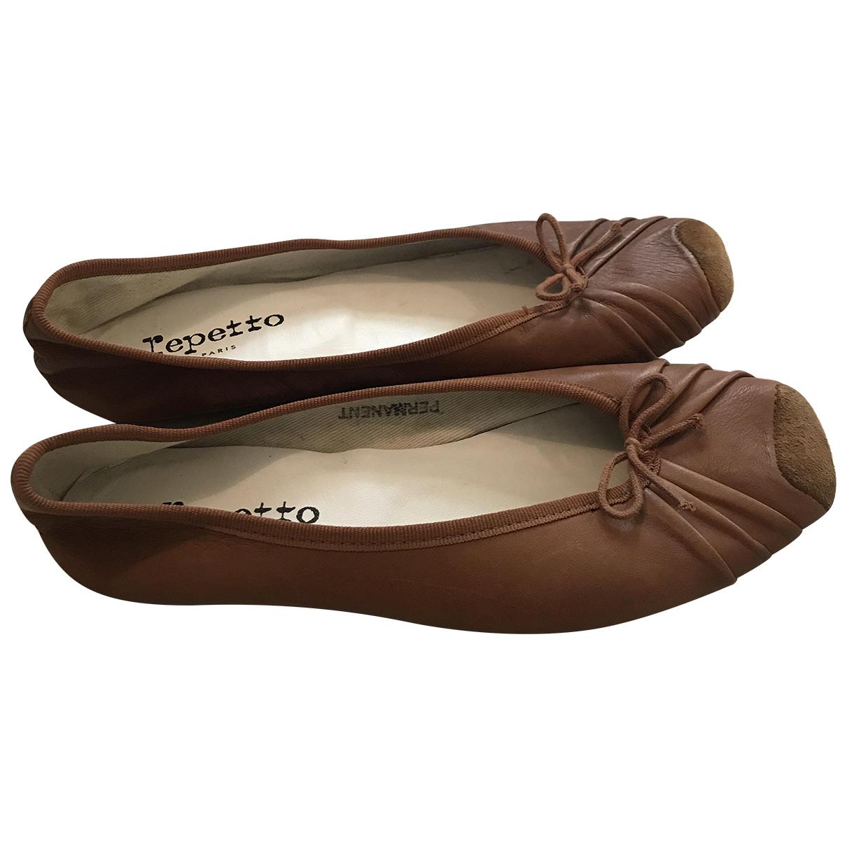 Repetto - Ballerines   pour femme en cuir - marron