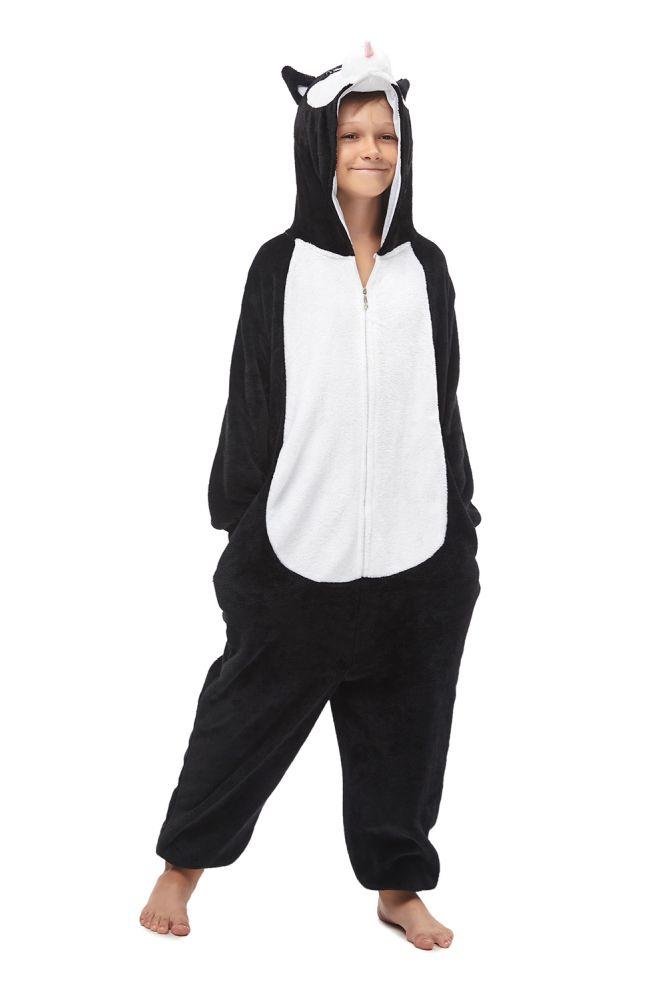 Invierno niñas Huskie Pijama general nuevo negro Onesie para niños Kigurumi disfraz pijamas Huskie Kigurumi niños