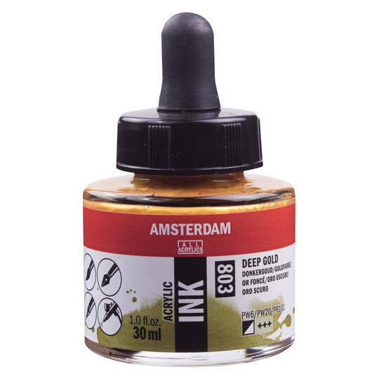 Amsterdam Acrylic Ink, 1 oz in Deep Gold | Michaels®