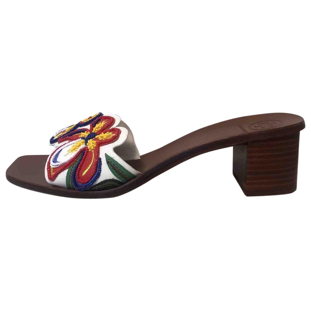 Tory Burch - Sandales   pour femme en cuir - multicolore