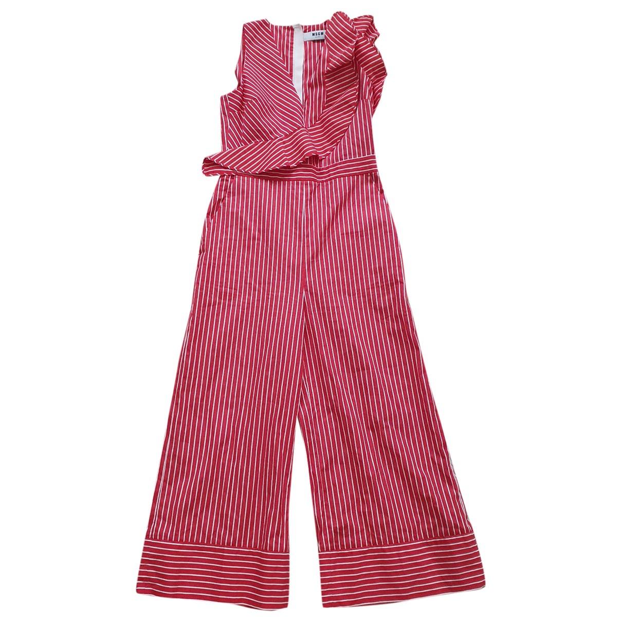 Msgm - Combinaison   pour femme en coton - rouge