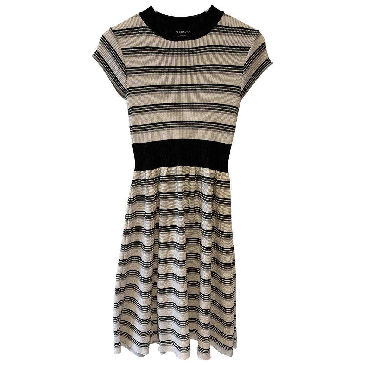 Mary Quant \N Kleid in  Grau Baumwolle - Elasthan