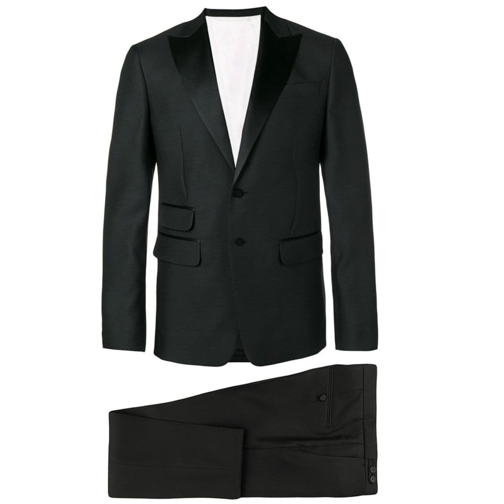 DSquared2 Mens Slim Fit Black Suit Colour: BLACK, Size: EXTRA LARGE