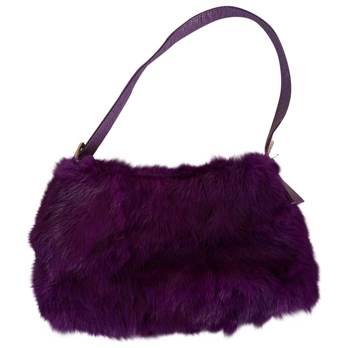 Rebecca - Pochette   pour femme en lapin - violet