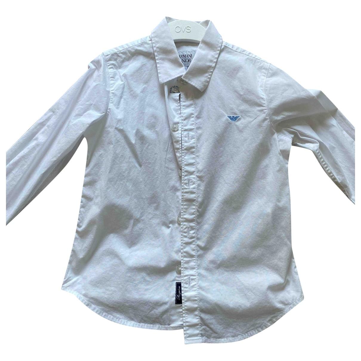 Armani Baby - Pull   pour enfant en coton - blanc