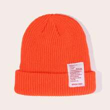 Patch Decor Knitted Beanie