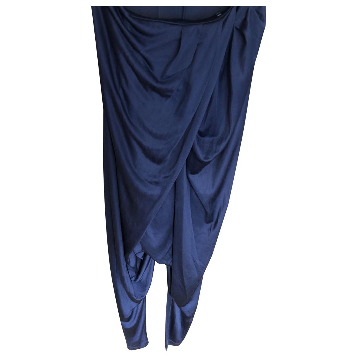 Pinko - Robe   pour femme en soie - bleu
