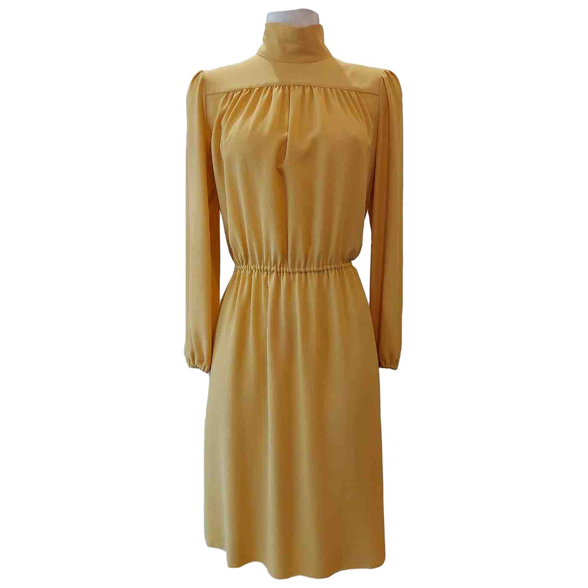 Missoni \N Kleid in  Gelb Seide