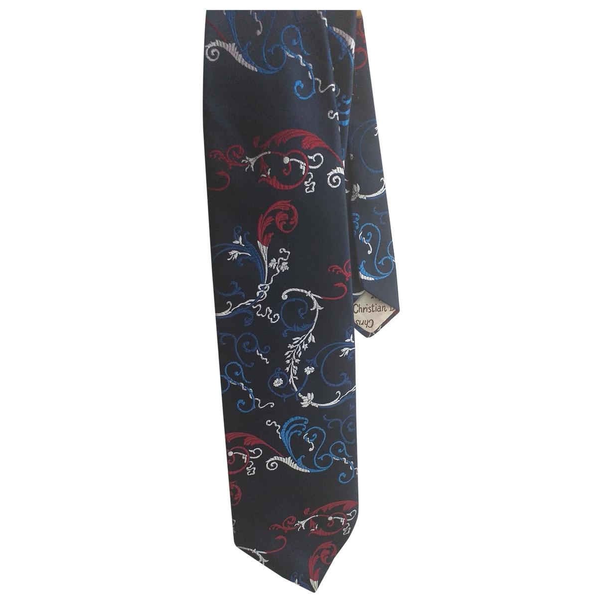 Dior \N Krawatten in  Blau Synthetik