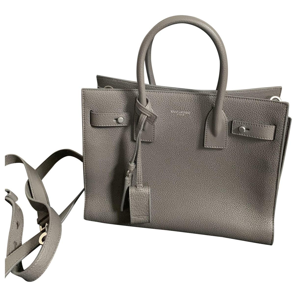 Saint Laurent Sac de Jour Grey Leather handbag for Women N