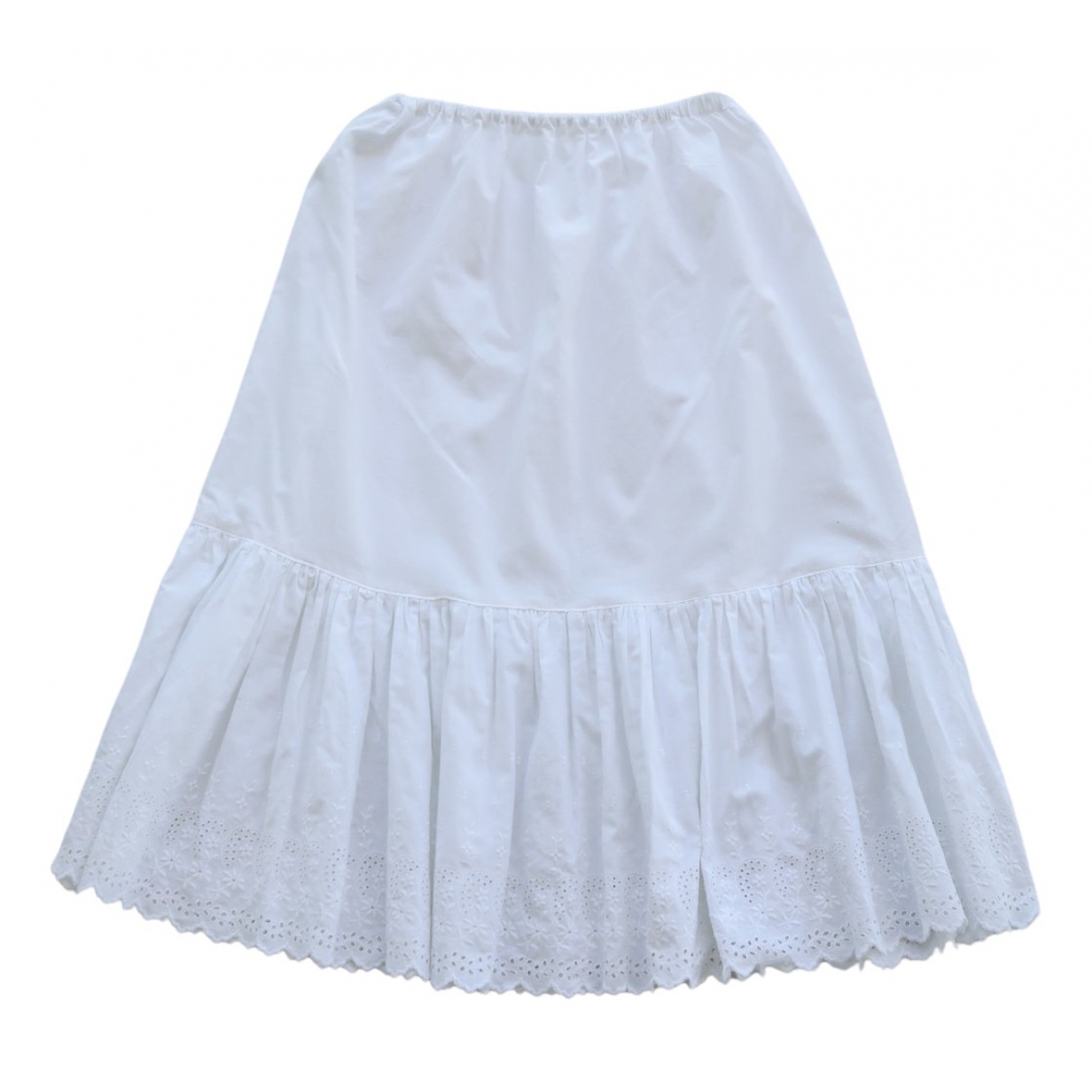 Non Signé / Unsigned \N White Cotton skirt for Women M International