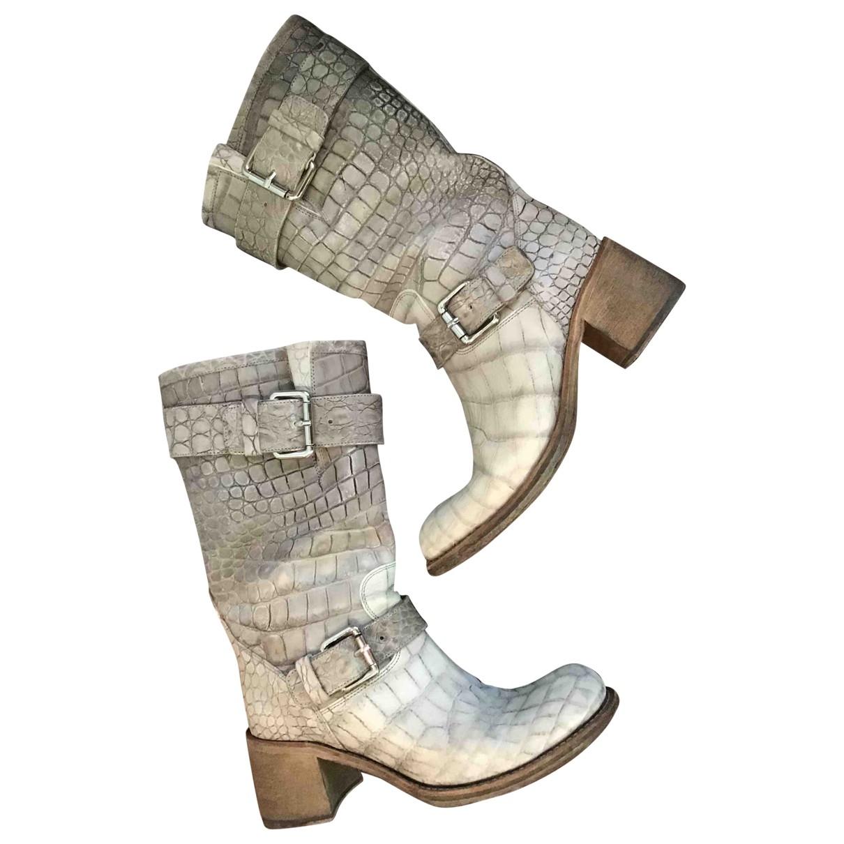 Free Lance - Bottes Geronimo pour femme en cuir - gris
