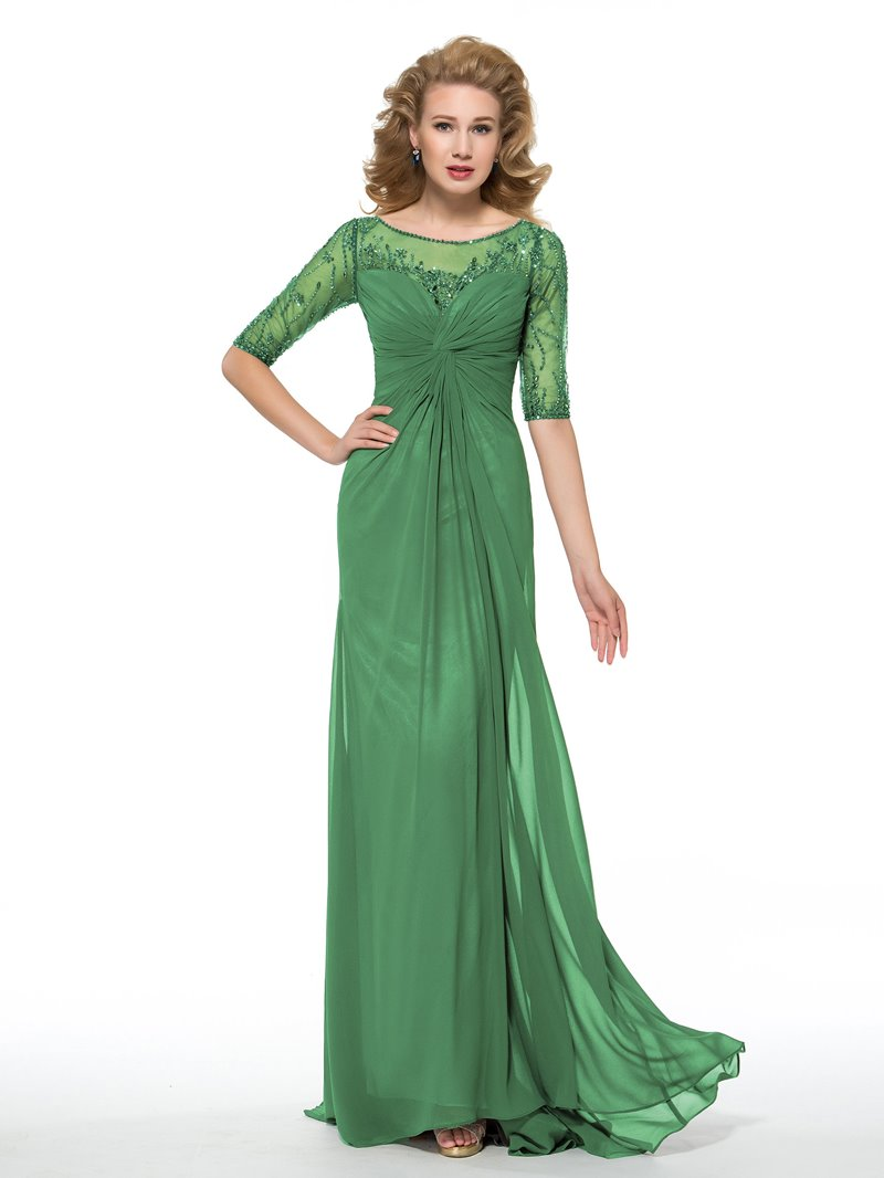 Ericdress Sheath Beading Half Sleeves Mother of the Bride Dress