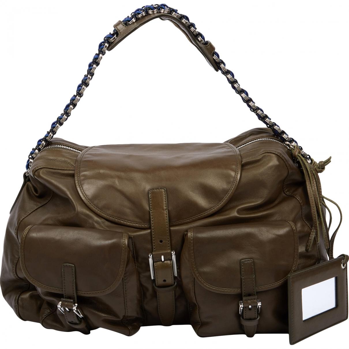Balenciaga \N Khaki Leather handbag for Women \N