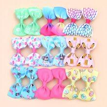 18pcs Toddler Girls Bow Knot Decor Hair Clip