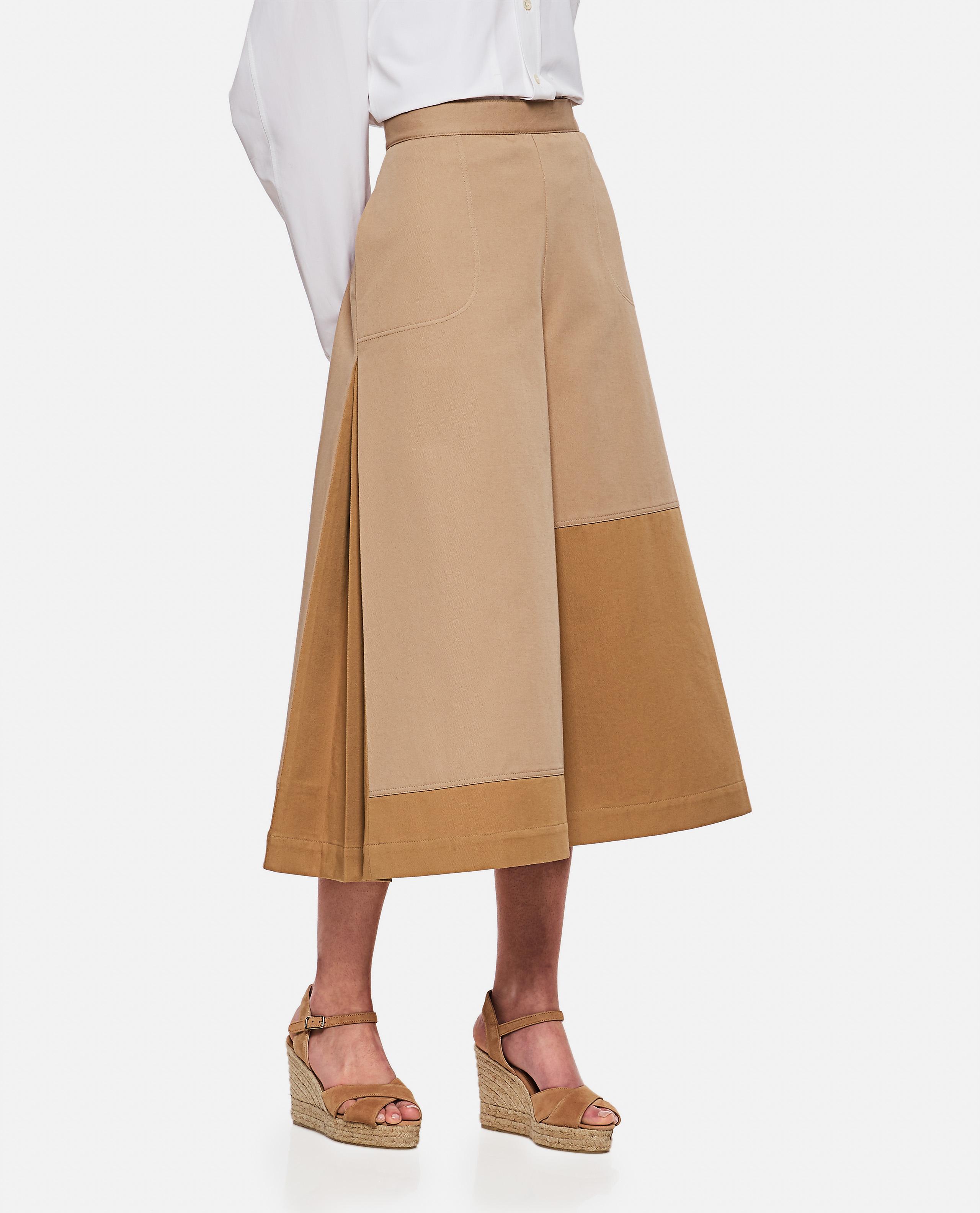 Asymmetrical culotte trousers