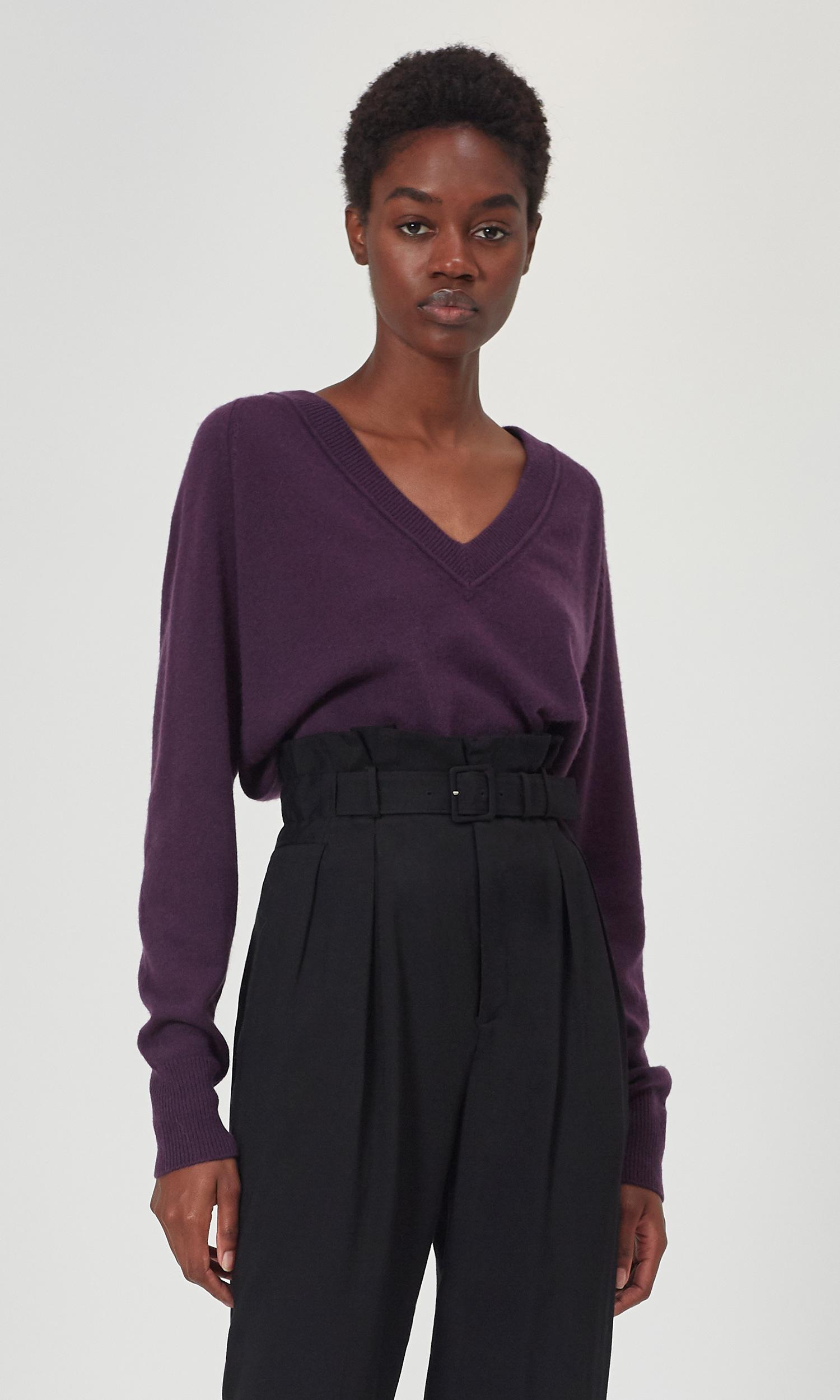 Madalene V-neck Cashmere Sweater by Equipment