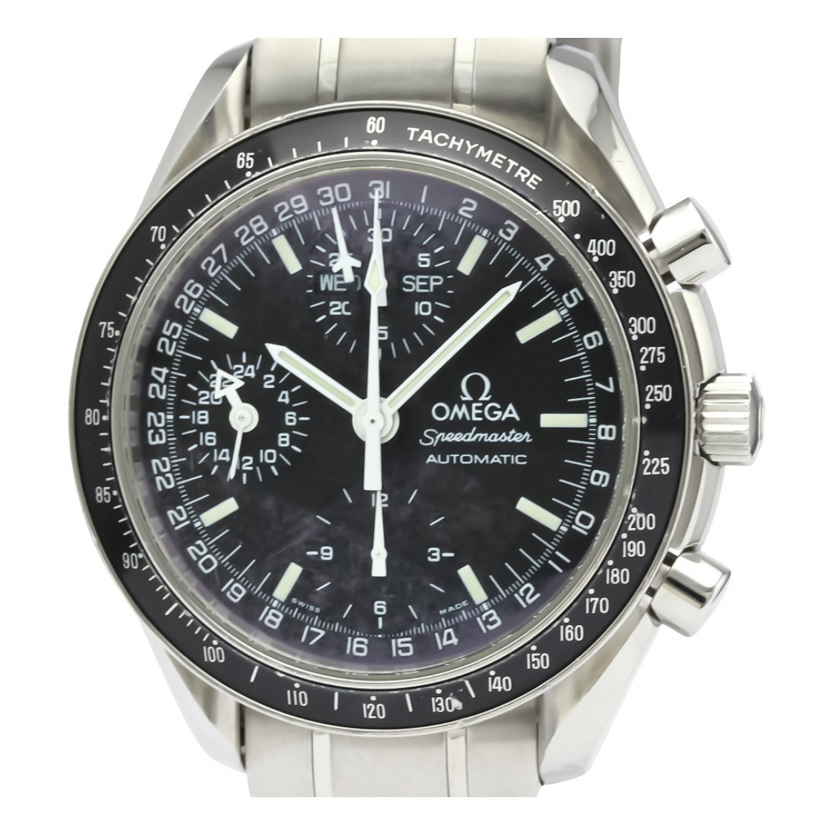 Omega Speedmaster reduced Uhr in  Schwarz Stahl