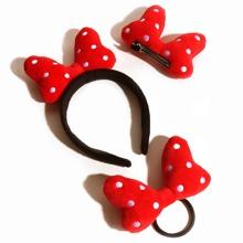 3pcs Toddler Girls Bow Knot Decor Hair Clip