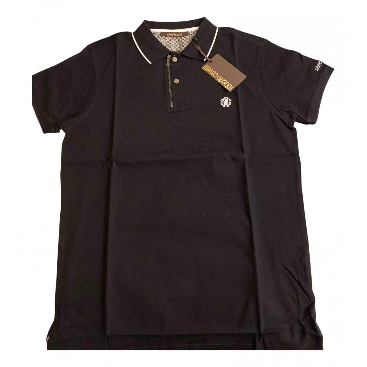 Roberto Cavalli \N Poloshirts in  Schwarz Baumwolle