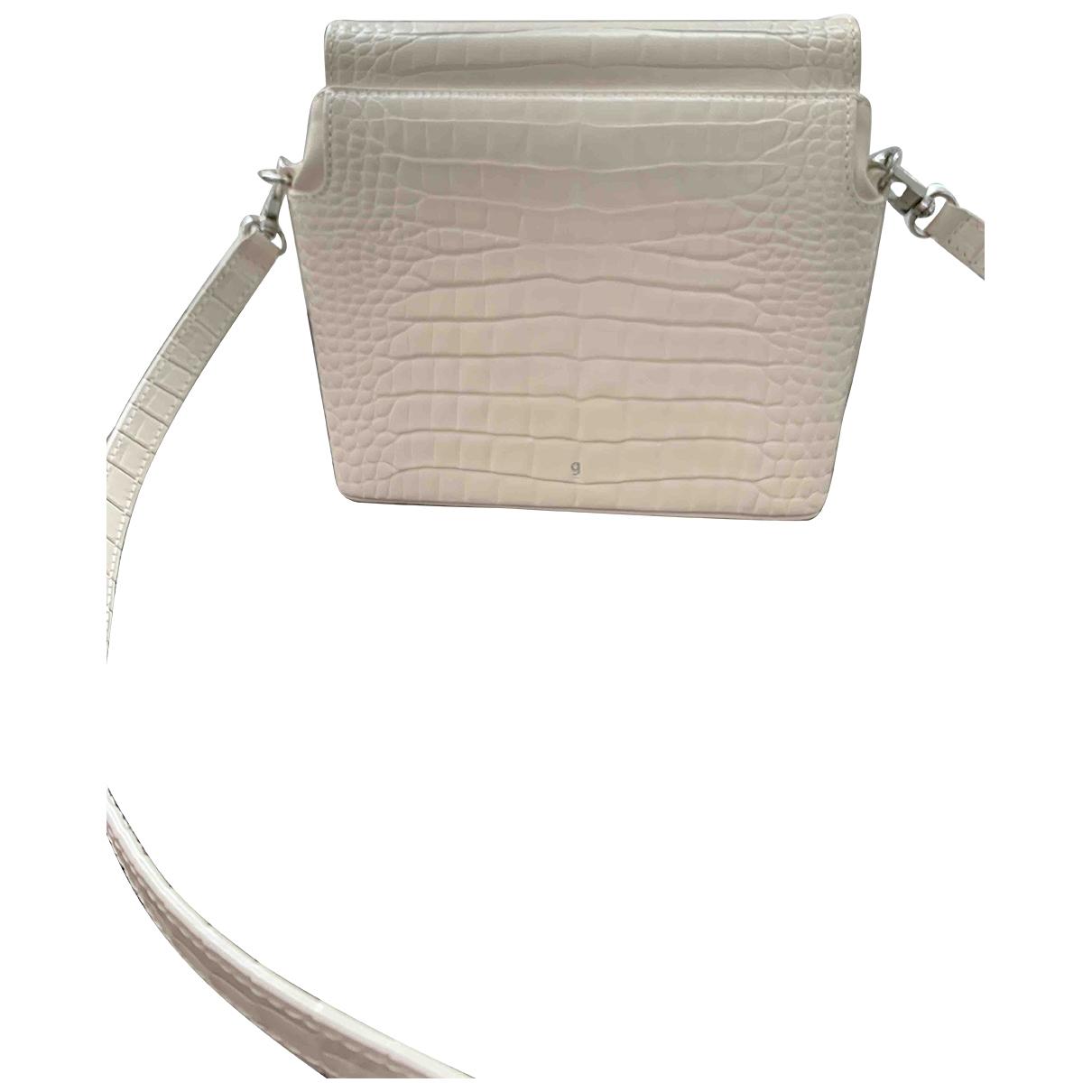 Gu_de \N White Leather handbag for Women \N
