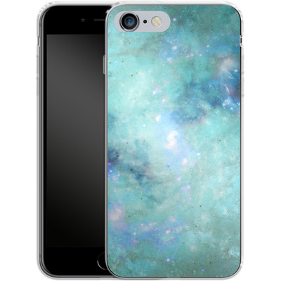 Apple iPhone 6s Plus Silikon Handyhuelle - Abstract Galaxy - Light Blue von Barruf