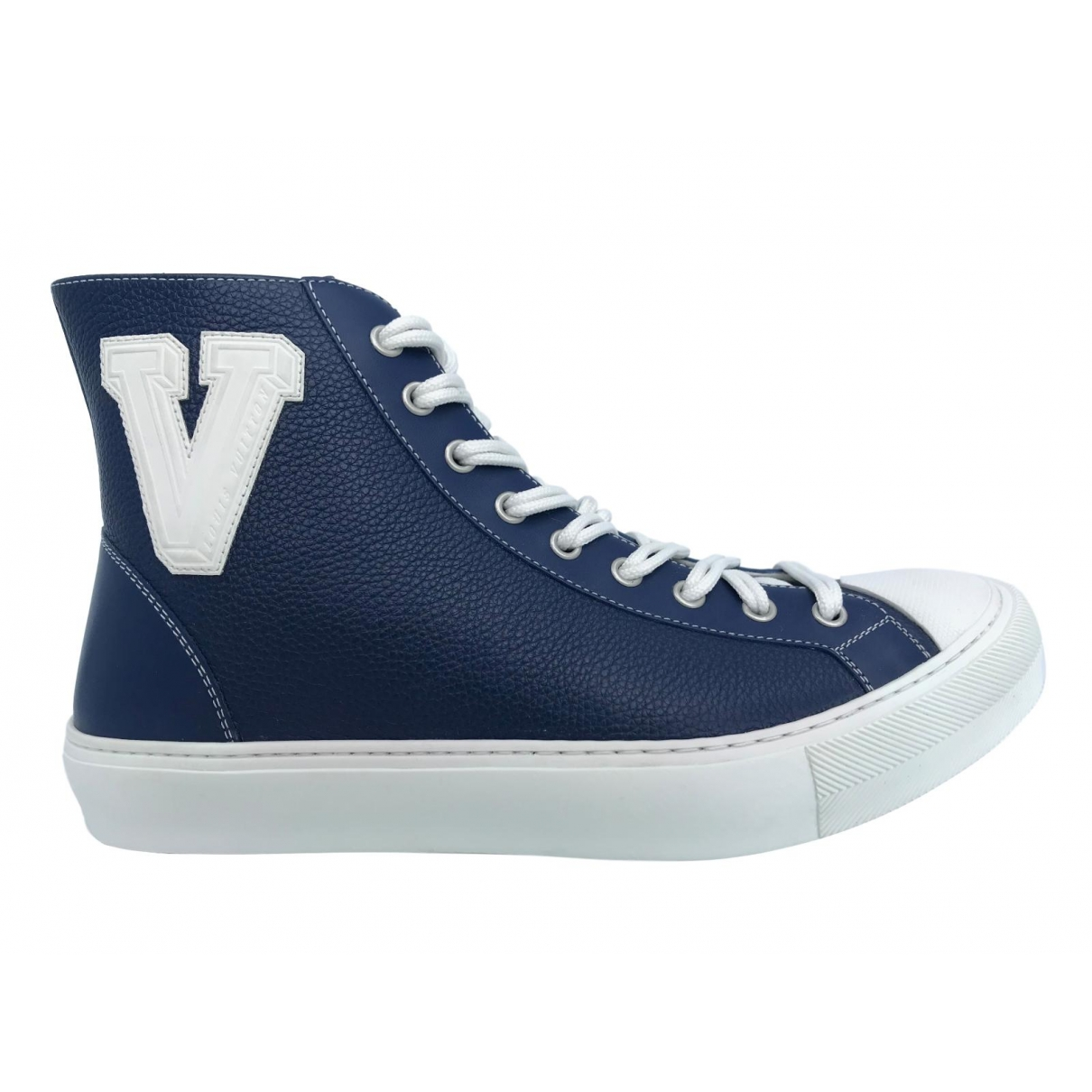 Louis Vuitton \N Navy Leather Trainers for Men 6.5 UK