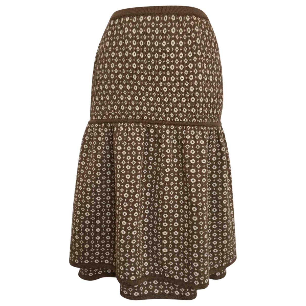 Valentino Garavani - Jupe   pour femme en laine - beige