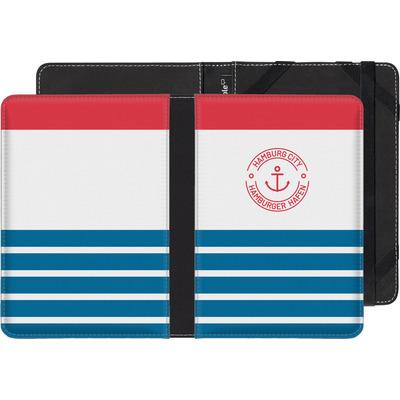 Amazon Kindle Paperwhite 3G eBook Reader Huelle - Hamburger Hafen von caseable Designs
