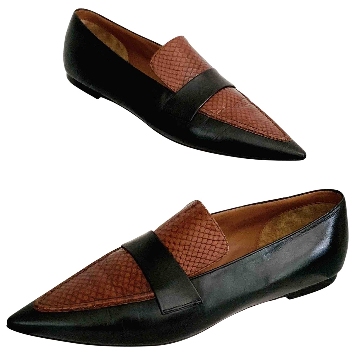 Celine \N Black Exotic leathers Flats for Women 40 EU