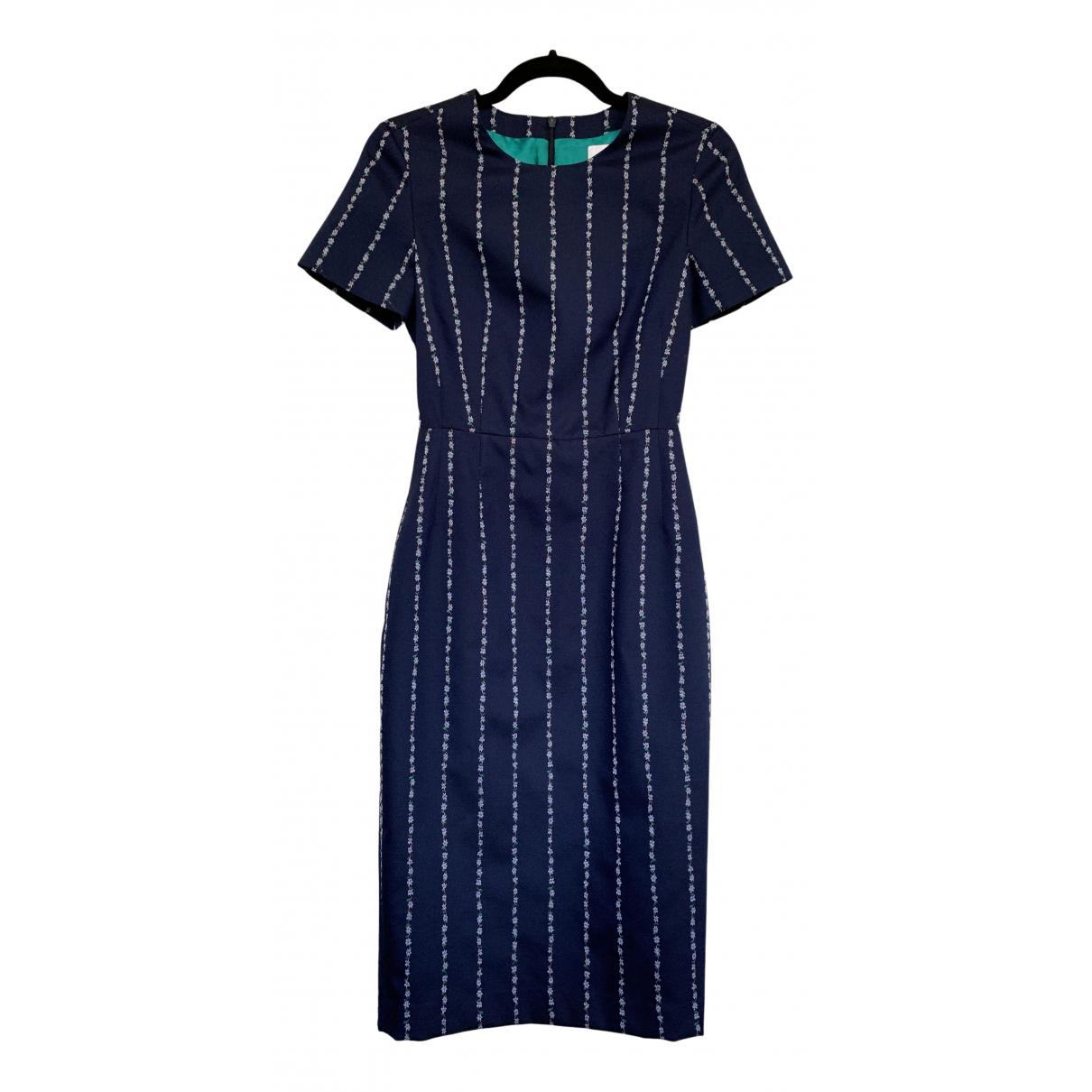 Paul Smith - Robe   pour femme en laine - bleu