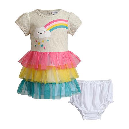Sweetheart Rose Baby Girls Short Sleeve Tutu Dress, 24 Months , Multiple Colors