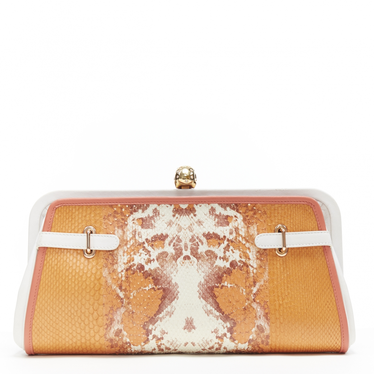 Alexander Mcqueen \N Clutch in  Orange Leder