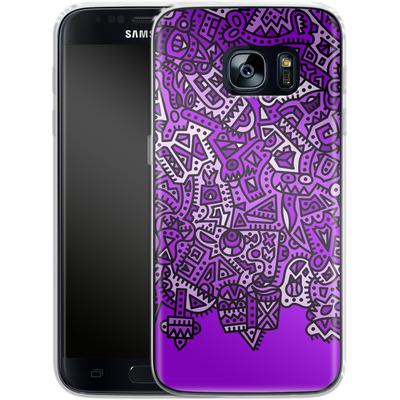 Samsung Galaxy S7 Silikon Handyhuelle - Violet Black von Mattartiste