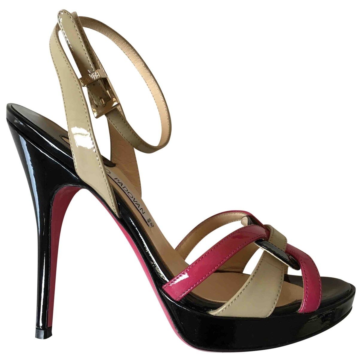 Luciano Padovan \N Multicolour Patent leather Sandals for Women 35 EU