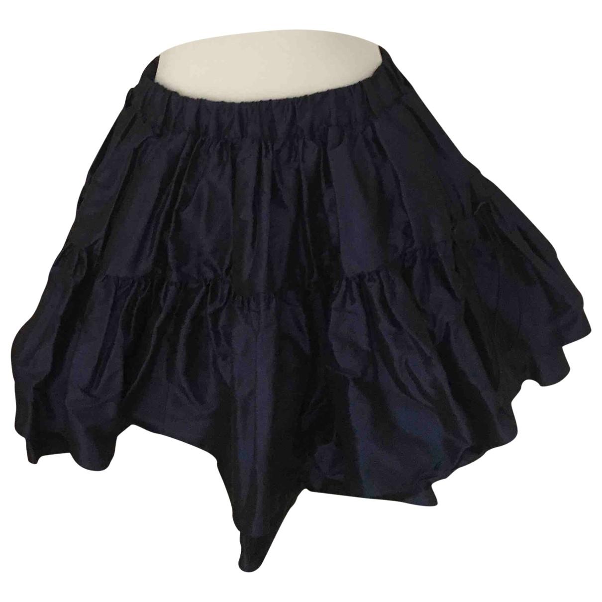 Miu Miu - Jupe   pour femme en soie - bleu