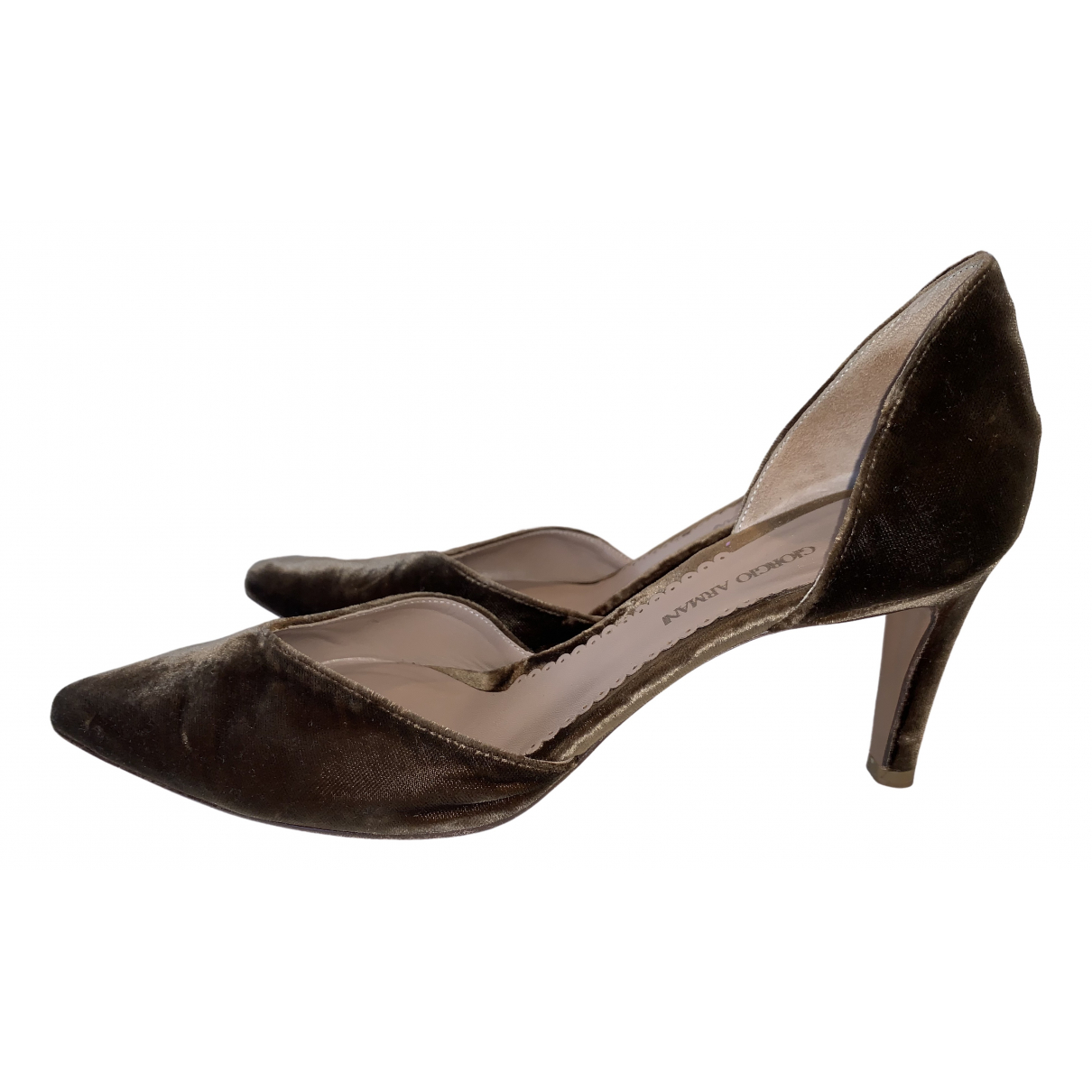 Giorgio Armani - Escarpins   pour femme en cuir - metallise