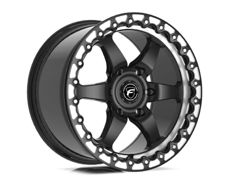 Forgestar F0B171181P36 D6 Beadlock Wheel 17x11 6x127 36mm Gloss Black w/ Machined Lip