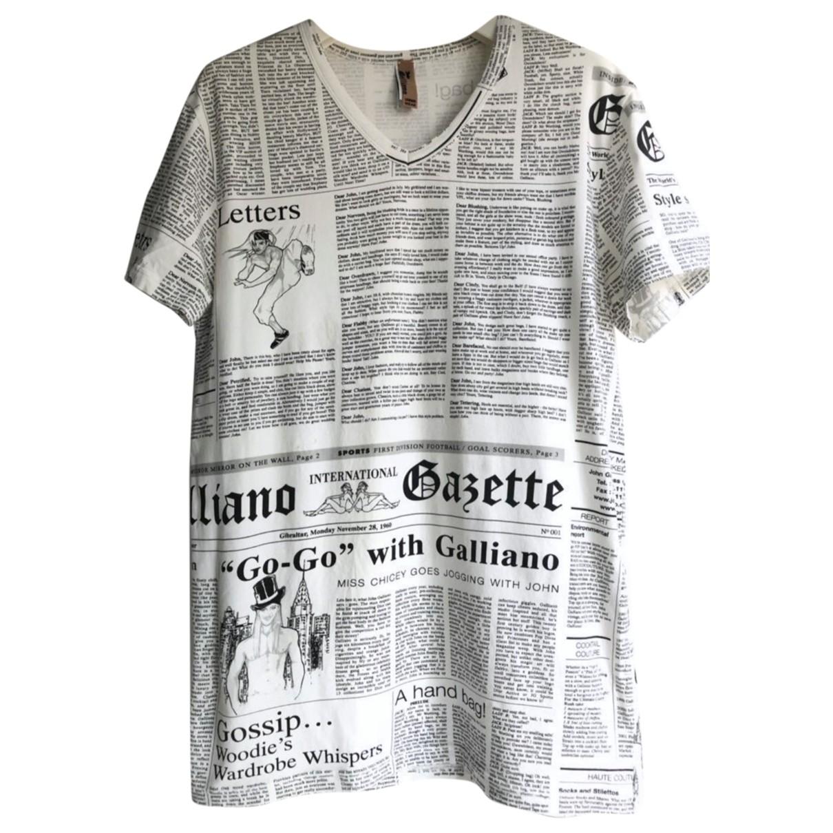 John Galliano \N T-Shirts in  Weiss Baumwolle