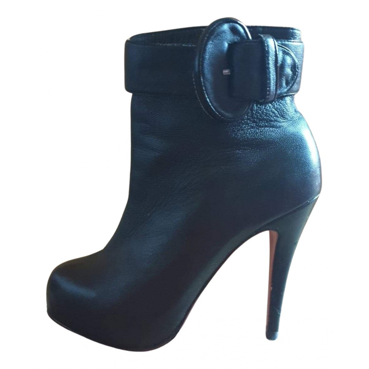 Christian Louboutin N Black Leather Ankle boots for Women 39 EU