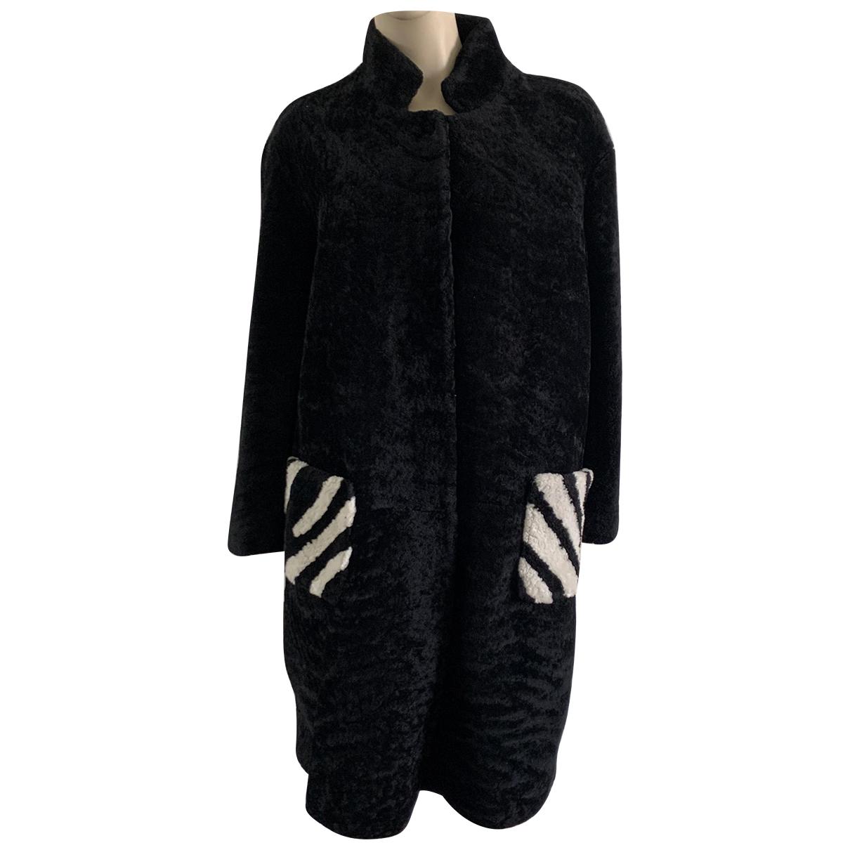 - Manteau   pour femme en mouton - noir