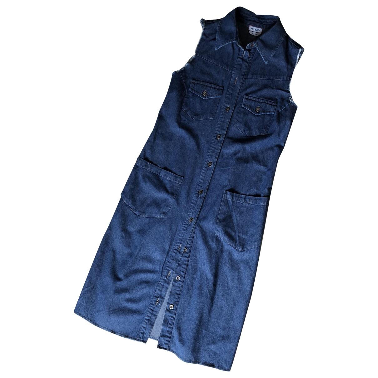 Max & Co \N Blue Cotton dress for Women 38 IT