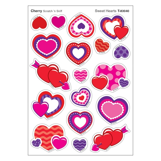 Trend Enterprises® Sweet Hearts Stinky Stickers®, 6 Packs Of 72 | Michaels®