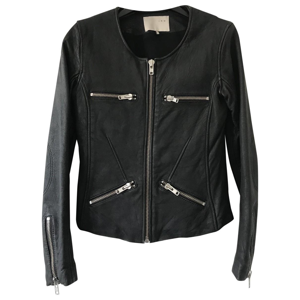 Iro - Blouson   pour femme en cuir - noir